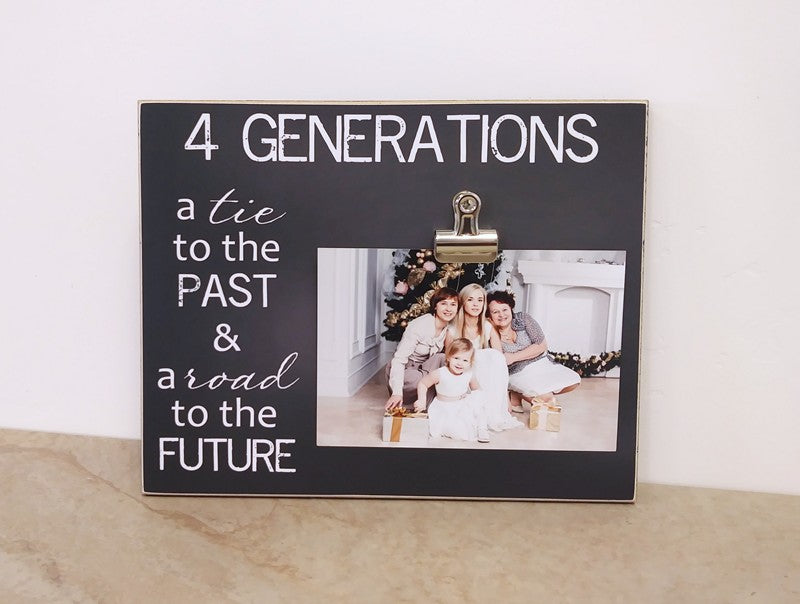 4 generations photo frame gift for grandma, mothers day gift