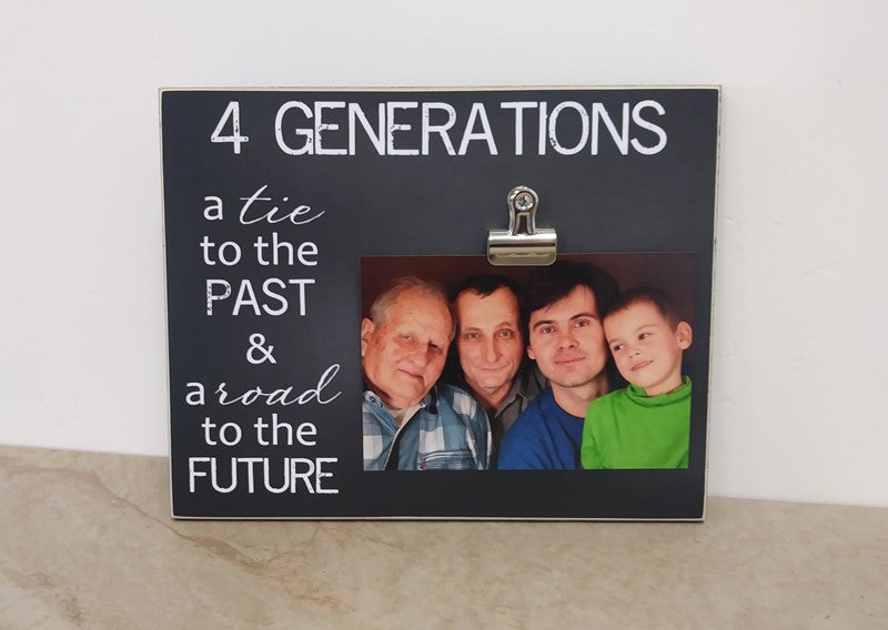 4 generations picture frame, fathers day gift for grandpa, gift for great grandpa
