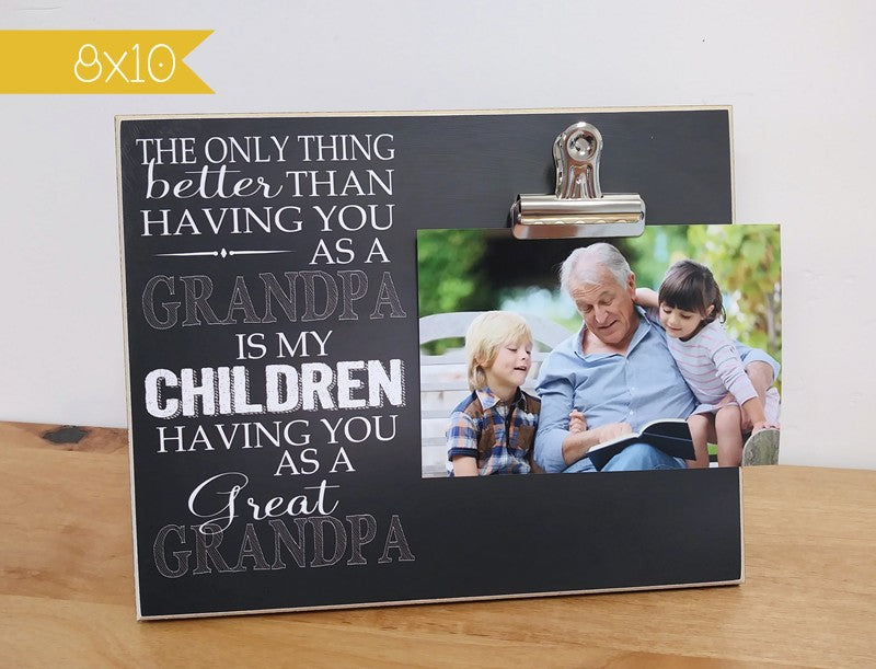 photo frame gift for great grandpa