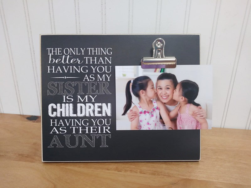 gift for sister or gift for aunt, sisters photo frame