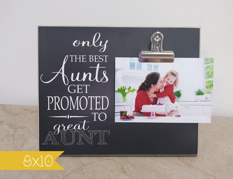 pregnancy announcement picture frame, pregnancy reveal, birthday gift for aunt, photo frame