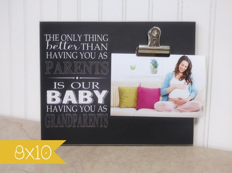 Pregnancy Reveal to Parents Picture Frame