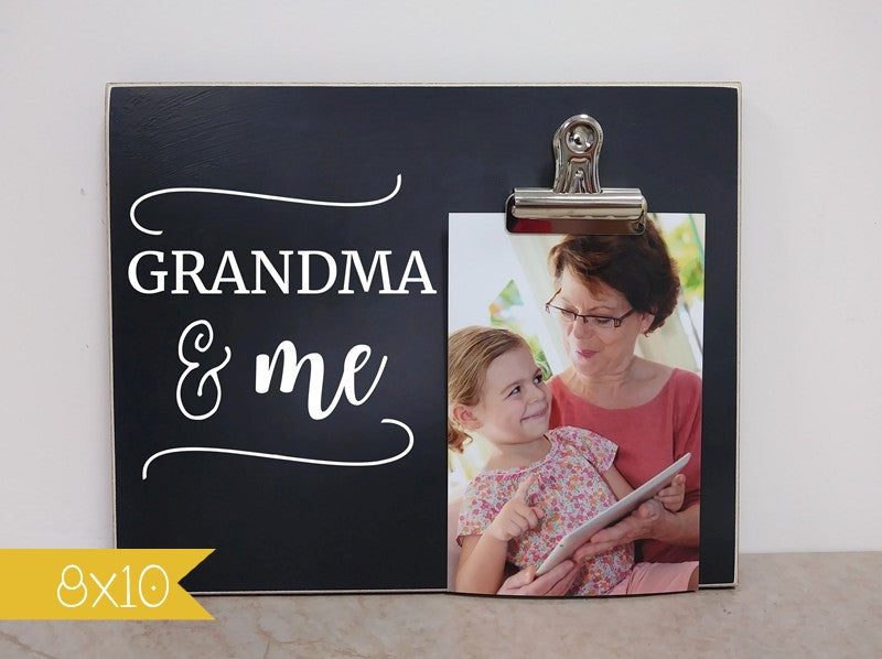 mothers day gift for grandma and me picture frame photo clip frame birthday gift for grandma gift