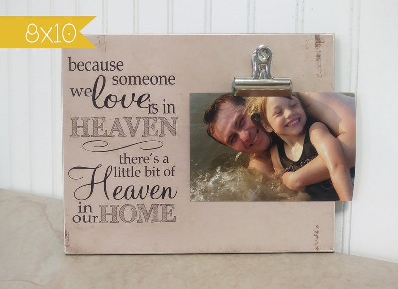 personalized picture frame condolences gift, sympathy gift