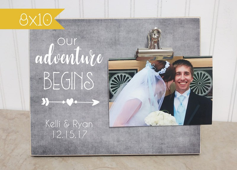 bridal shower gift wedding gift our adventure photo frame