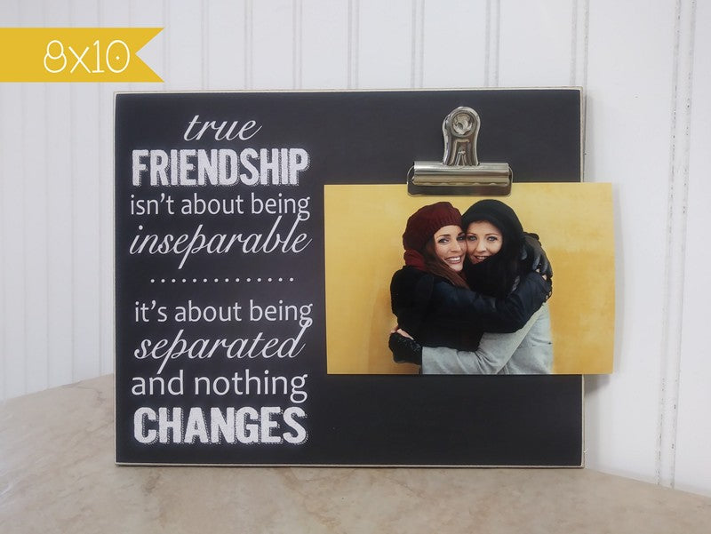 true friendship photo frame going away gift