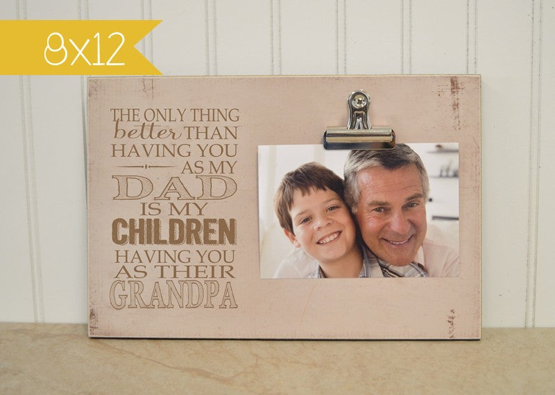 birthday gift for dad, gift for grandpa father's day photo frame