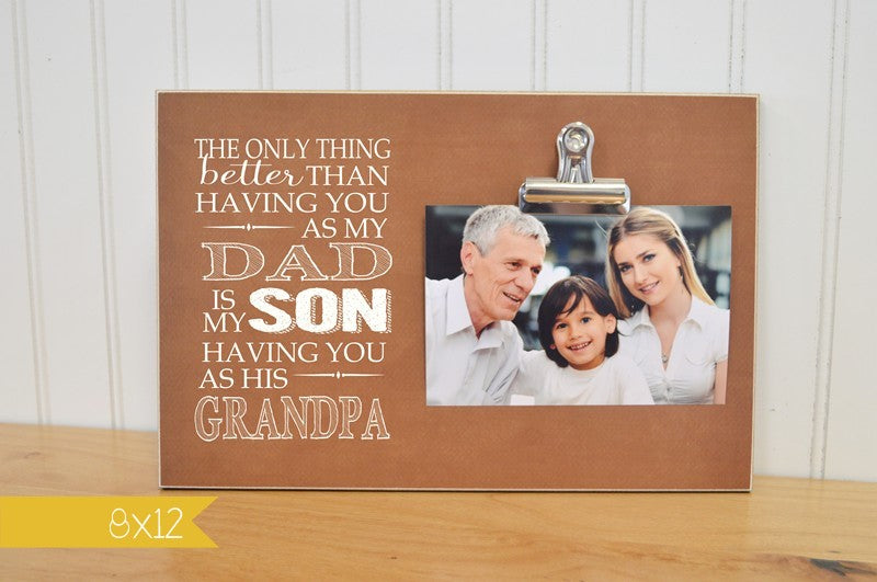 grandparents day gift father's day gift for grandpa, father and son gift