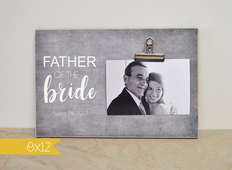 thank you gift for father of the bride, wedding photo frame