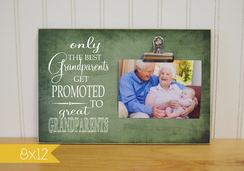 picture frame for great grandparents, pregnancy announcement, pregnancy reveal photo frame