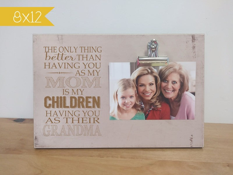 photo clip frame for mom photo frame for grandma