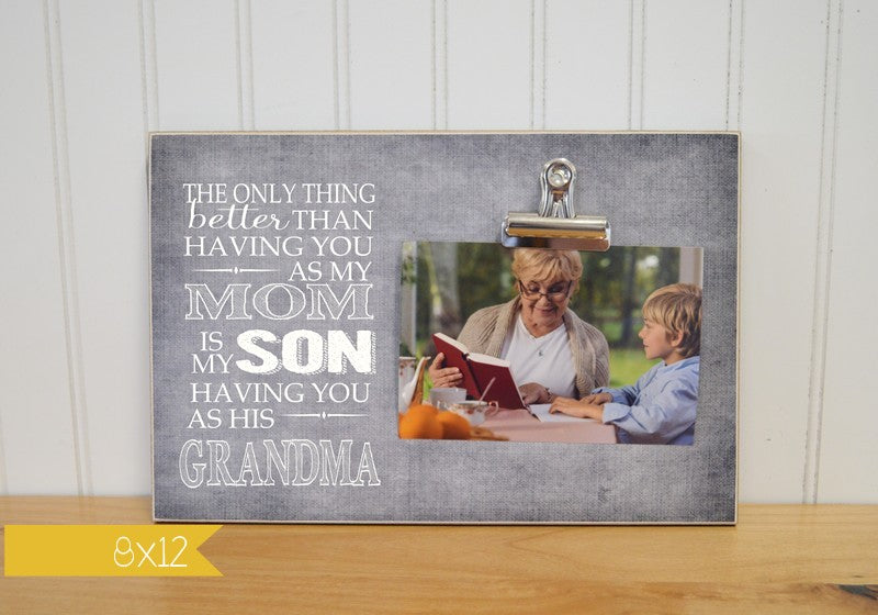 Grandma and Grandson Photo Frame