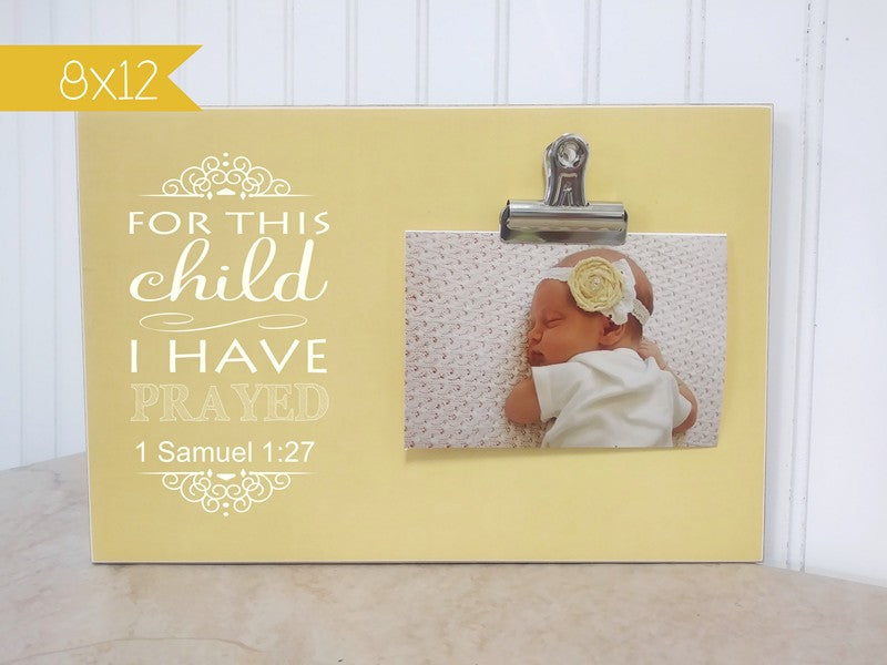 For This Child I Have Prayed Custom Photo Frame Dandelion Wishes