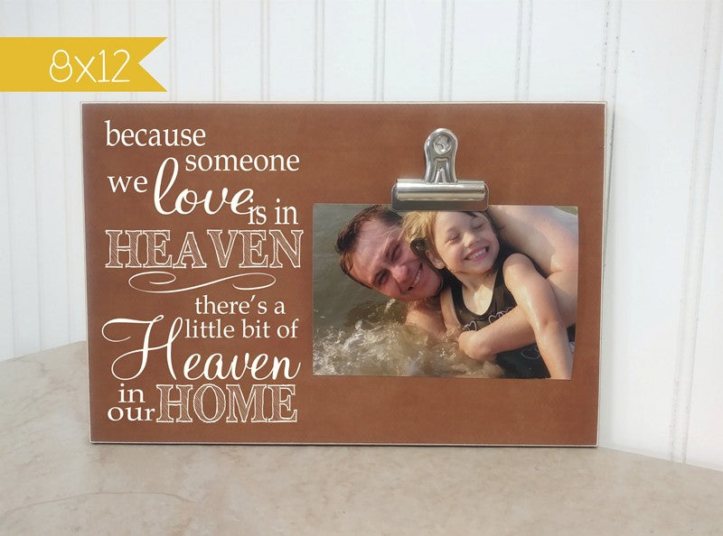 in memory frame, someone we love is in heaven, memorial gift