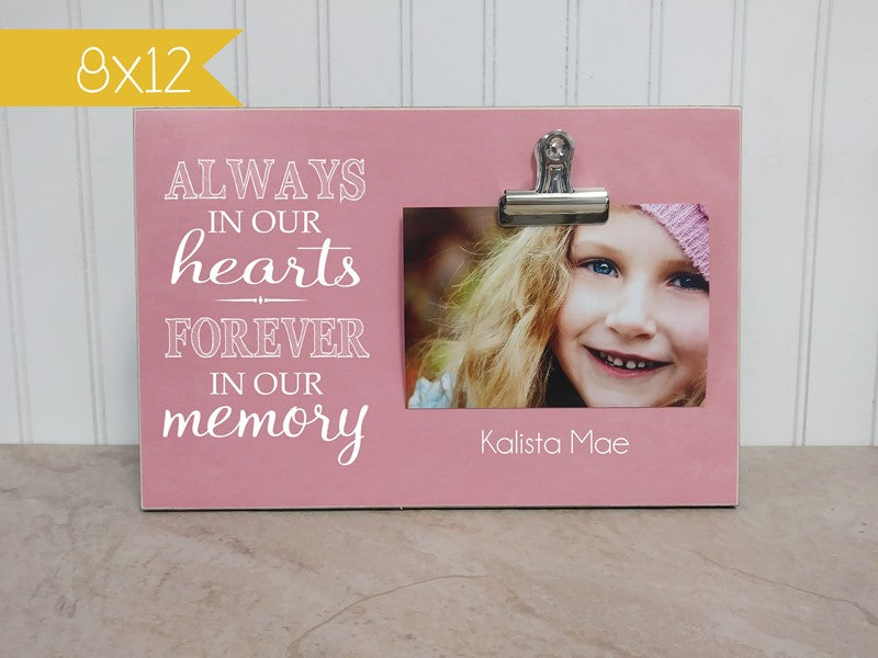 personalized picture frame condolences gift, sympathy gift, always in our hearts