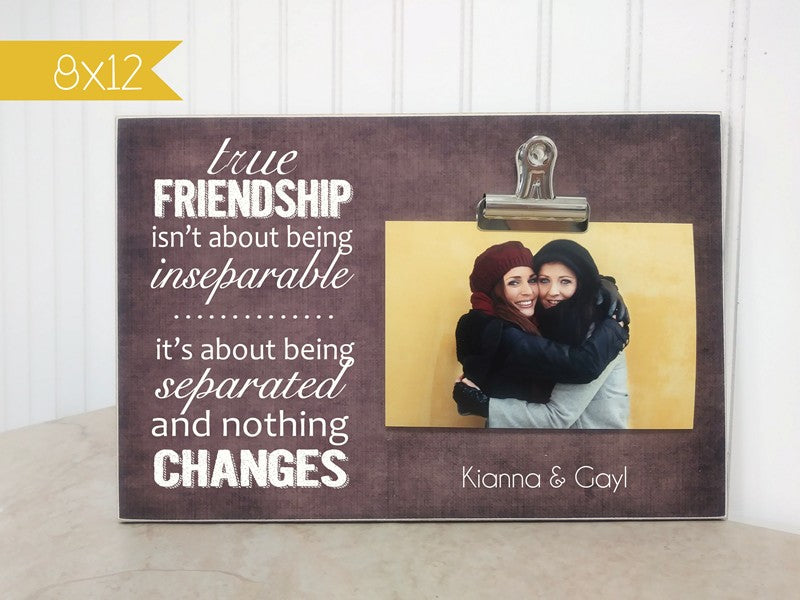 best friends picture frame, moving away gift