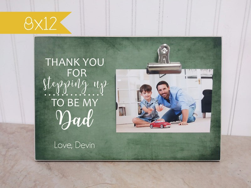 step dad father's day gift photo frame