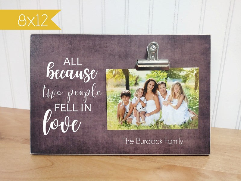 bridal shower gift photo frame
