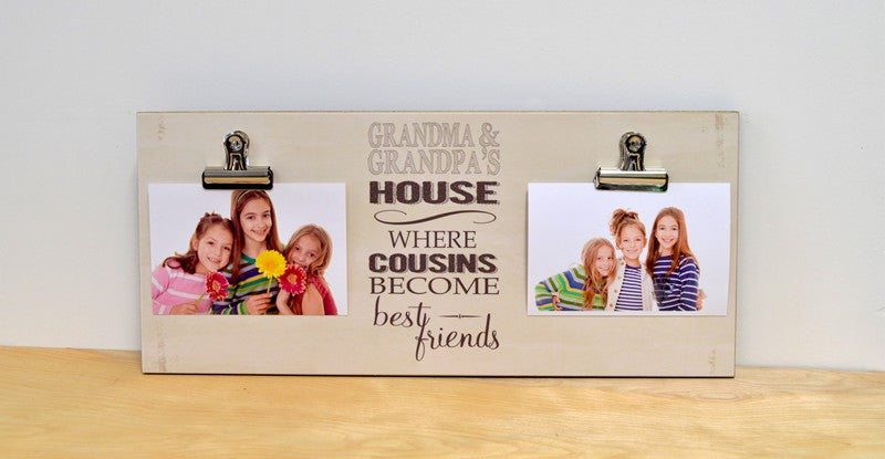 farmhouse grandparents frame, grandma and grandpas house, cousins become best friends, grandparents day gift for grandparents