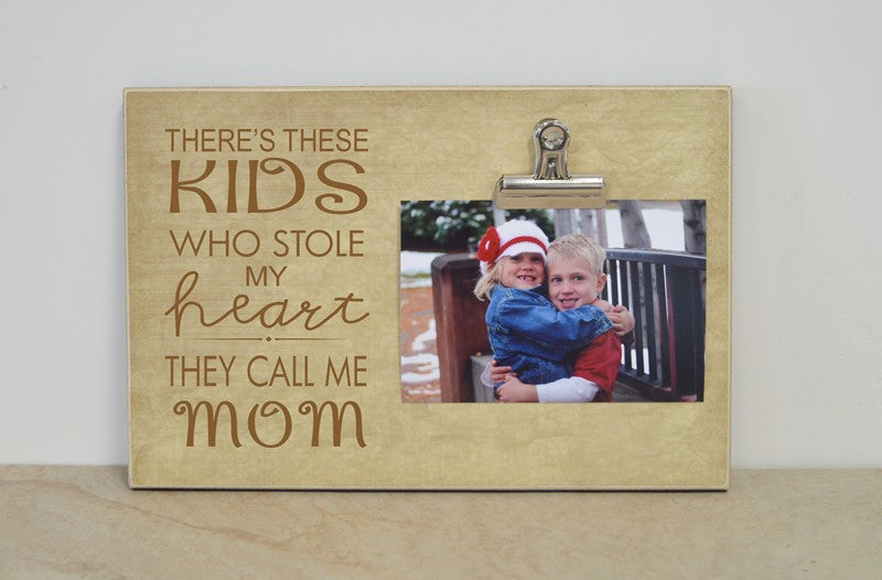 personalized frame for mom, kids stol my heart