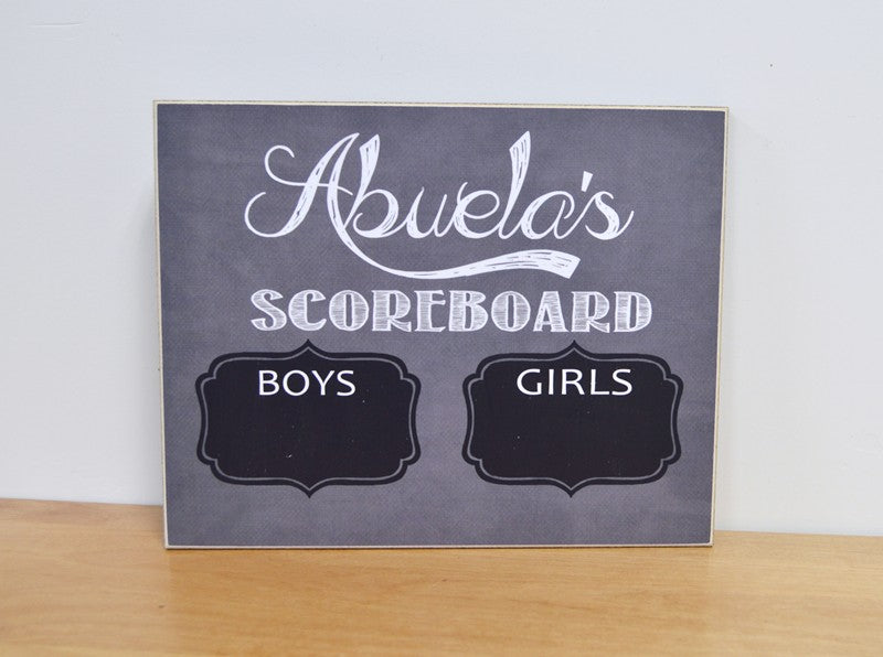 abuelas scoreboard gift for grandma boys vs girls