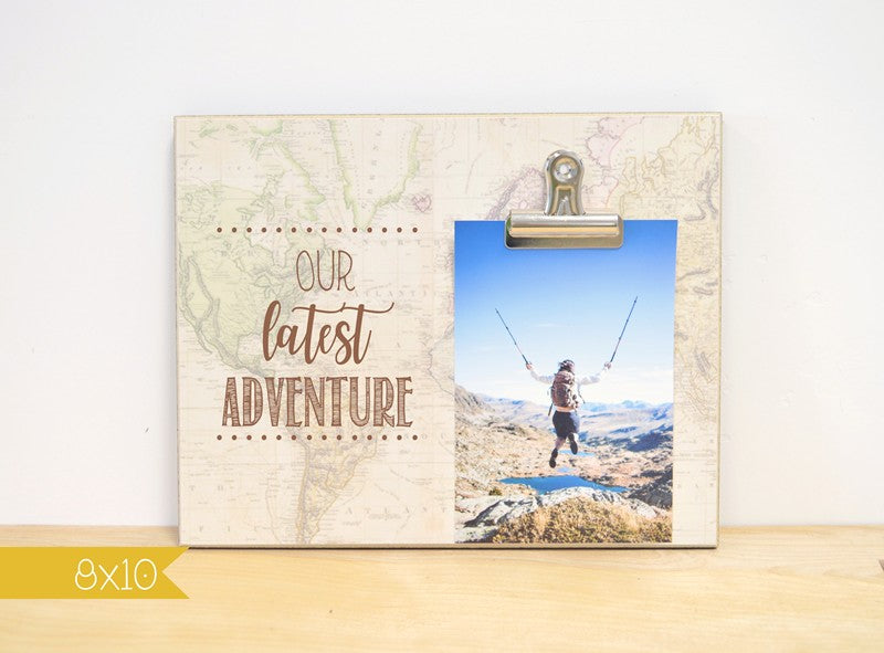 map photo frame, our latest adventure, gift for traveler gift, vacation gift, vacation souvenir