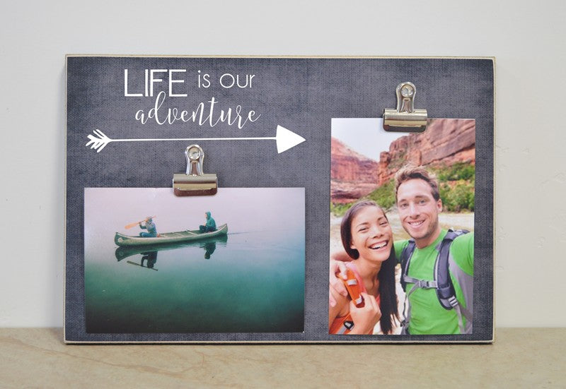 travel gift, life is our adventure photo frame, gift for couple, gift for family gift