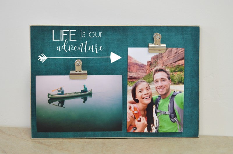 life is our adventure photo frame