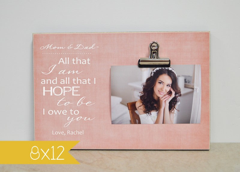 personalized wedding picture frame gift from the bride