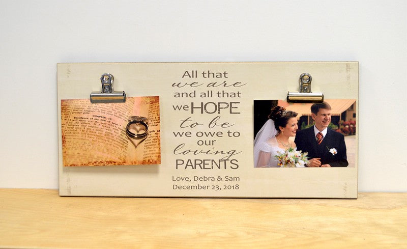 farmhouse style parents of the bride thank you gift