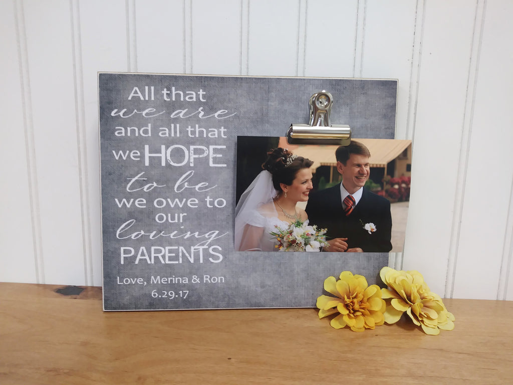 photo frame for parents of the bride