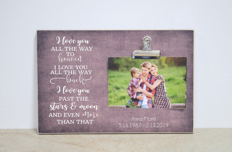 All The Way To Heaven, Sympathy Photo Frame