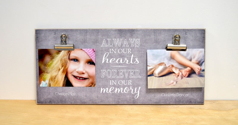 memorial gift photo frame always in our hearts, personalized gift