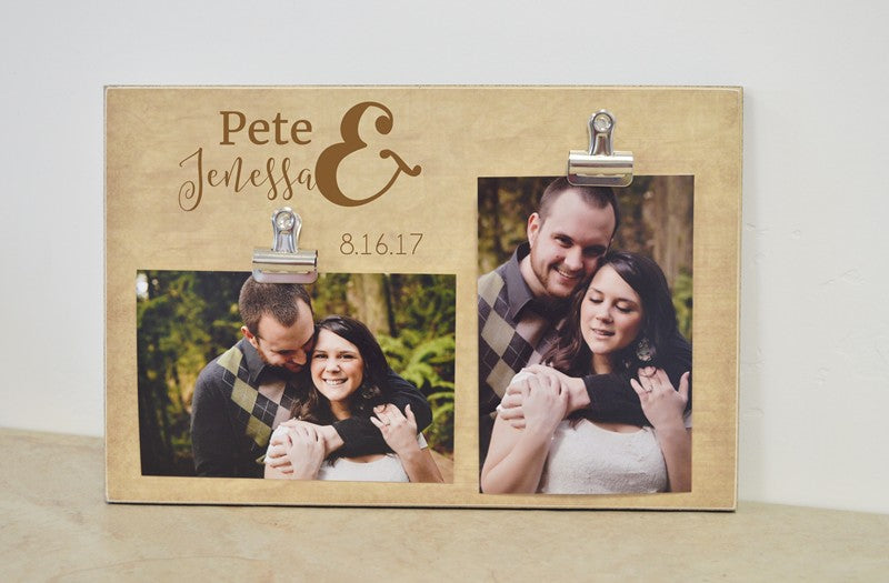 personalized photo frame gift for couples, wedding gift, anniversary gift with  names and special date