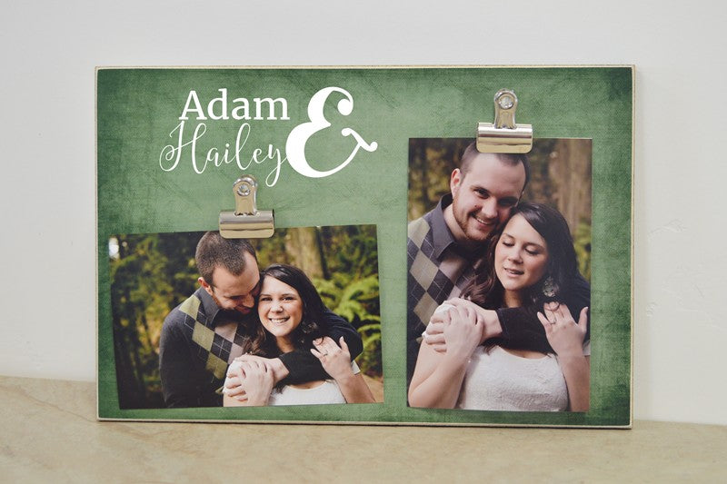 gift for couple - personalized names picture frame wedding gift, wedding anniversary gift, gift for her