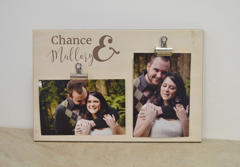 personalized frame ampersand photo frame, you and me gift for her, valentines day gift for him