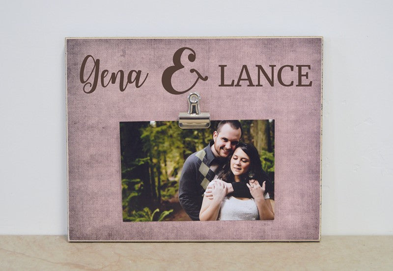 personalized names frame for couple