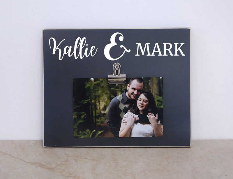 wedding gift, anniversary gift, valentines day gift for couples, personalized picture frame with names