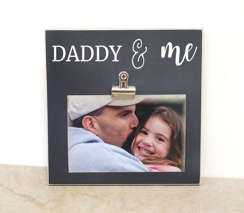 daddy and me photo clip frame fathers day gift