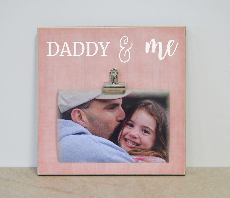 father daughter gift, girls room decor, daddy and me frame