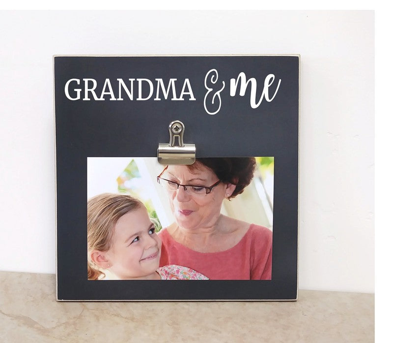 grandma gift for mothers day, grandma and me personalized photo frame