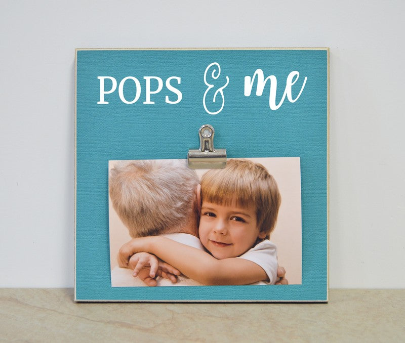 pops and me custom photo frame fathers day gift