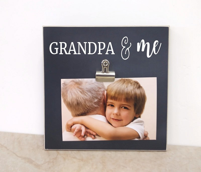 grandpa and me frame fathers day gift birthday gift for grandpa