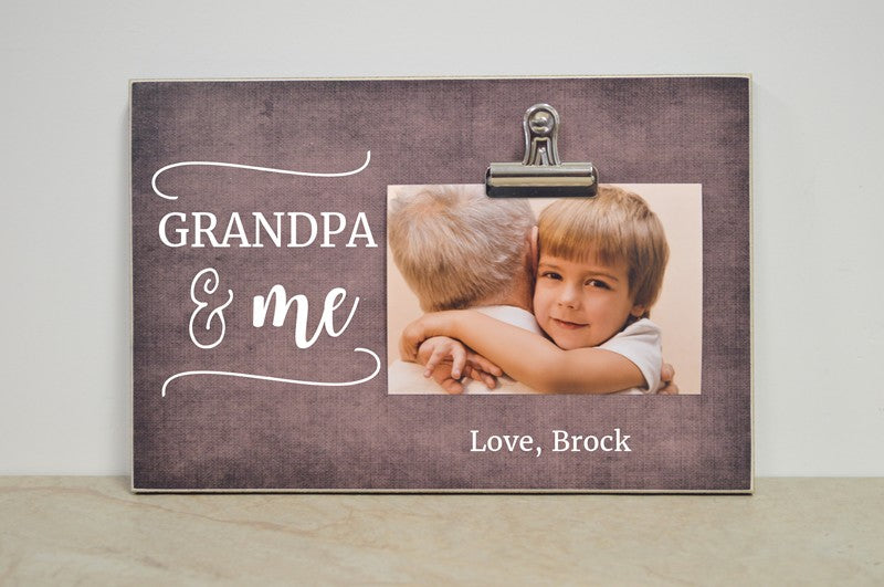 grandpa gift, grandpa photo frame gift for grandpa - grandpa and me
