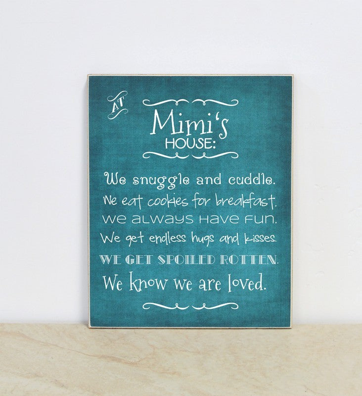 personalized grandparent gift, mothers day gift, at mimis house wooden sign