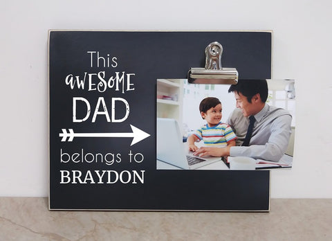 Personalized Photo Frame - This Awesome Dad