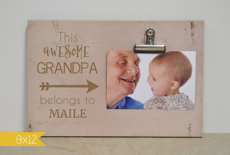 This Awesome Grandpa, Custom Photo Frame
