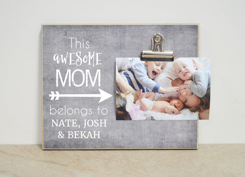 This Awesome Mom, Personalized Photo Frame