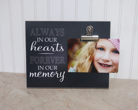 always in our hearts photo frame sympathy gift