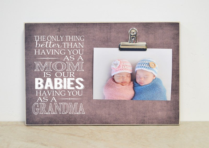 twins pregnancy reveal gift for grandma, new grandma gift